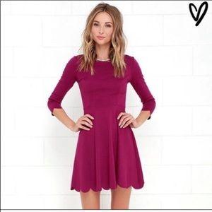 Pink scalloped dress from Lulu's